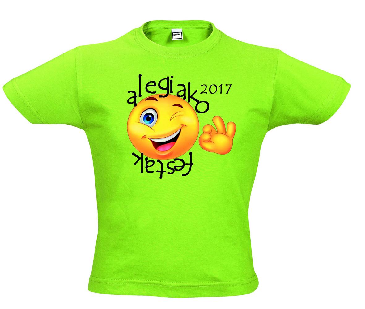 La comisión de Fiestas de Alegia tiene listo el diseño de las camisetas de  fiestas de este año. Llevarán el logotipo diseñado por Felix Irazustabarrena  y el ... ef1624f027d6f